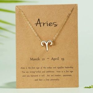 🎉 New Aries Zodiac Gold Plated Necklace